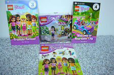 Lego Friends 30106 Poly Bag MINIFIGure Ice Cream Books Stickers Readers All NEW