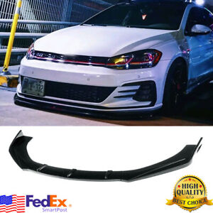 Gloss Black Bumper Lip Body Kit Splitter For VW Golf MK5 MK6 MK7 MK7.5 GTI GTD