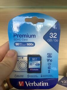 Verbatim 32GB Premium SDHC Memory Card, UHS-I V10 U1 Class 10