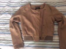 Maison Scotch nude/neutral leather jacket Danish size 2 UK10-12