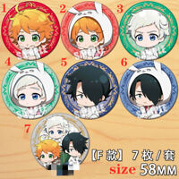 "Anime The Promised Neverland badges Pins Schoolbag 5.8CM(2.3"") cosplay"