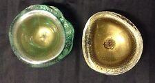 Archimede Seguso Freeform Somerso Art Glass Bowls Gold Venini Era