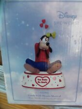 Precious Moments Disney Showcase ~ You Make Me Goofy with Hearts 133105~ NIB