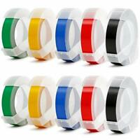 "Compatible Dymo Plastic 3D Embossing Label Tapes 3/8"" for Embossing Label Maker."
