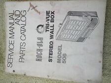 rockola phonette wallbox jukebox machine service manual  model 506