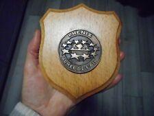 médaille PHENIX ARMÉE DE L'AIR  sur socle bois  avion plane