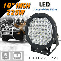 """LED Spot Lights 2x 225w Heavy Duty CREE 12/24v AAA+ """"MOST POWERFUL 9 INCH TODAY"""""""