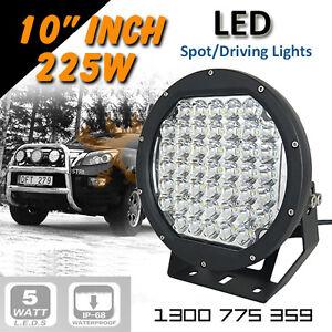 "LED Spot Lights 2x 225w Heavy Duty CREE 12/24v AAA+ ""BEST 9 Inch"""