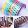 Matte  Colorful Nail Striping Tape Line Nail Art Adhesive Sticker Set