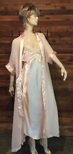 Vintage Chic Pink Size Medium Nightgown and Robe Set #9882