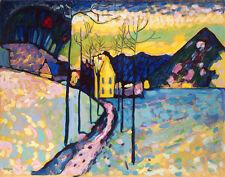 Kandinsky Wassily Winter Landscape Print 11 x 14  # 3595