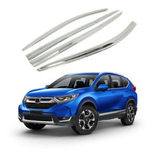 New Chrome Door Window Vent Visors Rain Guards Deflector for HONDA CR-V 17 - 18