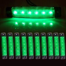 10x 6 SMD Green LED Side Marker Clearance Lights for Bus Lorry Truck Trailer Van