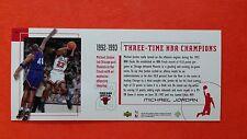 Michael Jordan 1999 Upper Deck Career Set Box Topper 92-93 3-Time NBA Champions