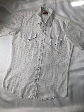 "Womens Vintage Western Miller Short Sleeve Shirt Size 15 1/2. """