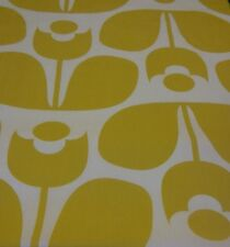 Orla Kiely wallflower yellow FQ 50cm square new fabric lightweight new