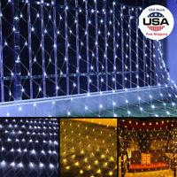 3X2M Net Mesh String Lights Wedding Party Xmas Decor Fairy Curtain Tree Lamp New