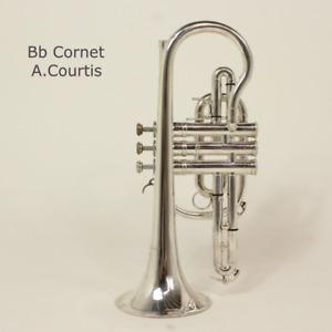 Cornet A.Courtois B flat silverplated