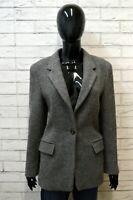 Giacca Cappotto Grigio Donna in Lana Vergine MARELLA Taglia 42 Jacket Woman Wool