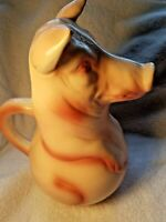 French Majolica St. Clément Pig Pitcher- Made in France