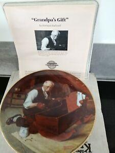 Bradford Exchange plate Grandpa's Gift from Norman Rockwells Golden Moment serie