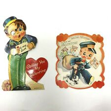 1930s moving eyes bellhop and mailman postman valentines