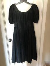 New listing Laura Ashley Christmas Black Taffeta Party Tea Dress Romantic Christmas 6 8
