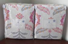New~Pottery Barn Kids Feather Ikat Drape Curtain Panel (Set of 2)