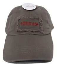 State of Texas Khaki Drab Washed Worn Distressed Embroidered Cap Hat