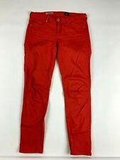 Adriano Goldschmied AG Jeans 27R Stevie Ankle Slim Straight Brick Red