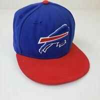Buffalo Bills Hat Fitted New Era NFL Football Men's Cap 59Fifty Blue Red 7 1/4