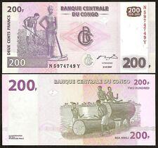 CONGO DEMOCRATIC 200 Francs 2007 UNC P 99