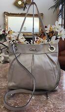 COACH Ashley Ivory Cream Leather Hippie Shoulder Bag Crossbody Purse F17605 EUC