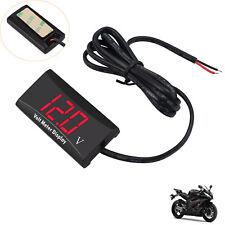 LED Digitalanzeige Spannungsanzeige Voltmeter Volt Anzeigt fr Motorrad Auto Boot