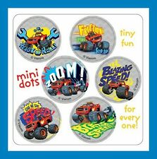 96 Blaze and the Monster Machines Dot Stickers (16 Sheets) Party Favors
