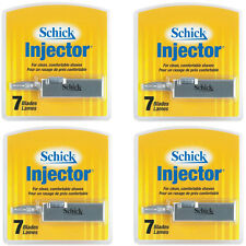 Schick Injector Blades with durable chromium 7 blades per pack - Pack of 4