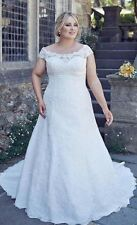 New White/Ivory Plus Size Wedding Dress Bridal Gown Custom 16 18 20 22 24 26 28+