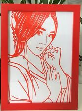 Single One Chinese Paper-Cuts Portrait A4 Size (21*30cm) Tradition Holiday Gift