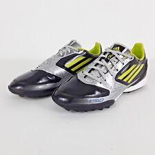 ADIDAS ADIZERO F10 F50 TURF FOOTBALL BOOTS BLACK LIME SILVER SIZE UK 5