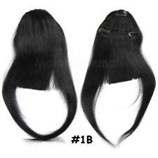 Natural Front Bangs Fringe Clip in 100% Remy Human Hair Real Soft Hairpiece