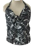Catalina Collection size XL 16 18 Tankini TOP ONLY padded bra floral halter