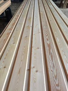 Siberian Larch Cladding Tongue & Groove AB-graded 21mm x 145mm (130mm)