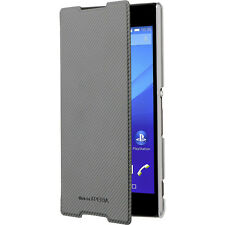 Roxfit Ultra Slim Black Book Cover for Xperia Z5 Folio Flip Case