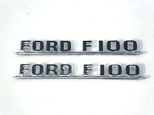 1953 1954  53 54 FORD TRUCK  F100 SIDE OF HOOD  EMBLEM PAIR  NEW