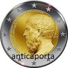 Moneda Grecia 2013 Platón Academia de Atenas 2400° Aniversario Rara
