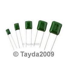 15 x 1500pF 0.0015uF 100V 5% Mylar Film Capacitors
