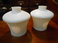 Pair of VINTAGE  GLASS LIGHT  LAMP  SHADES