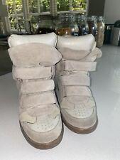 Isabel Marant Beige Suede Bekket Sneakers 37