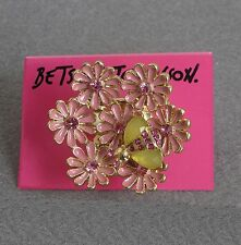 R294 Betsey Johnson Lily Pomander Flower Ball Floral Bouquet Hydrangea Ring  US