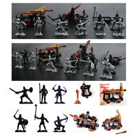 14PCS Plastic Knights Medieval Rome Toy Catapult Bow Soldiers Figures Playset UK